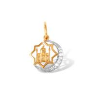 Золотая мечеть с фианитами ЮПП1321523