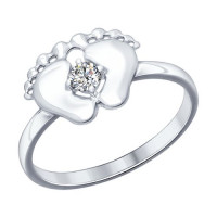 Серебряное кольцо с фианитами ДИ94012124
