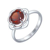 Серебряное кольцо с гранатами ДИ92011246