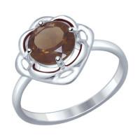 Серебряное кольцо с раухтопазами ДИ92011249