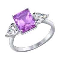 Серебряное кольцо с наноситалами и фианитами ДИ92011285