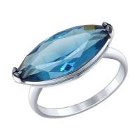 Серебряное кольцо с наноситалами ДИ92011294