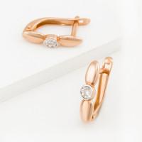 Золотые серьги с бриллиантами ЮИС113-4607