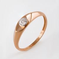 Золотое кольцо с бриллиантом ЮИК113-4606