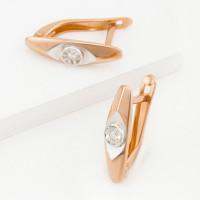 Золотые серьги с бриллиантами ЮИС113-4606
