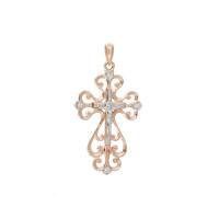 Золотой крест с бриллиантами ВБ8015-151-00-00