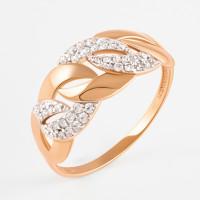Золотое кольцо с фианитами ЮПК1327210