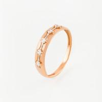 Золотое кольцо с фианитами ЮПК1327547