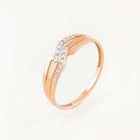 Золотое кольцо с фианитами ЮПК1327590