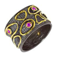 Серебряное кольцо с Swarovski ПВР-0143Бср