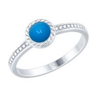 Серебряное кольцо с эмалью ДИ94012465