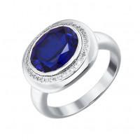 Золотое кольцо с корундами сапфирами и бриллиантами ДИ6012014