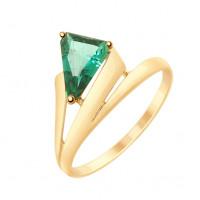 Золотое кольцо с кварцем ДИ715185