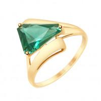 Золотое кольцо с кварцем ДИ715199