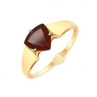 Золотое кольцо с гранатами ДИ715226