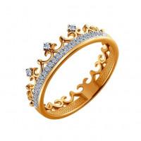 Золотое кольцо с бриллиантами в виде короны