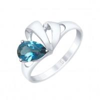 Серебряное кольцо с топазами ДИ92011582