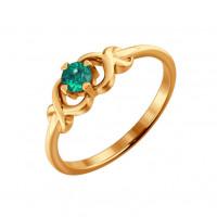 Золотое кольцо с изумрудом ДИ3010331