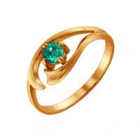 Золотое кольцо с изумрудом ДИ3010332