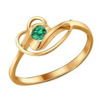 Золотое кольцо с изумрудом ДИ3010339