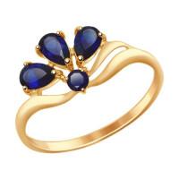 Золотое кольцо с корундами ДИ714595