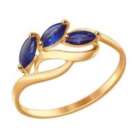 Золотое кольцо с корундами ДИ714605