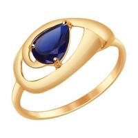 Золотое кольцо с корундами ДИ714639