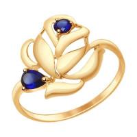 Золотое кольцо с корундами ДИ714687
