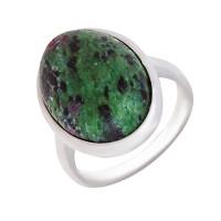 Серебряное кольцо с цоизитом ИЕ1К-СЛ5-100219цо