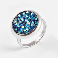 Серебряное кольцо с сваровски ДИ94012430