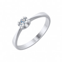 Золотое кольцо с бриллиантом ДИ1011738