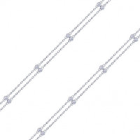 Серебряный браслет с фианитами и эмалью ДИ94050459