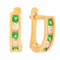 Золотые серьги детские с фианитами СЩ36072800