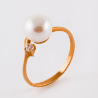 Золотое кольцо с жемчугом ФЖ21006.1