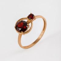 Золотое кольцо с гранатами НЮ102000193331гр