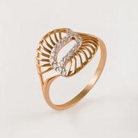 Золотое кольцо с фианитами РЫ1761341