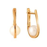 Золотые серьги с жемчугом СН0088-24 женские