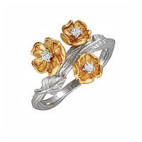 Серебряное кольцо с фианитами ИАС134508Ж