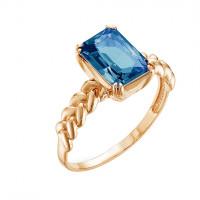 Золотое кольцо с топазами ЮИК120-3784тл