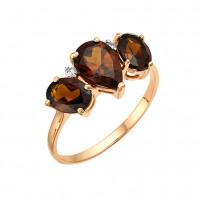 Золотое кольцо с раухтопазами ЮИК122-1212тр