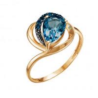 Золотое кольцо с топазами ЮИК124-4489тл
