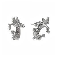 Серебряные серьги гвоздики с фианитами ИАС20320