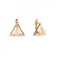 Золотые серьги с жемчугом СН0120-24