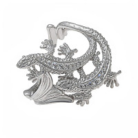 Серебряное кольцо с фианитами ИАС12100