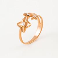 Золотое кольцо с фианитами 3ВК132-828