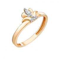 Золотое кольцо с фианитами 3ВК132-987