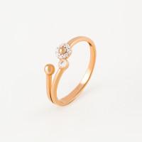 Золотое кольцо с фианитами 3ВК132-884