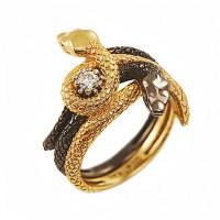 Серебряное кольцо с фианитами ИАС12090Ж
