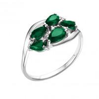 Серебряное кольцо с кварцем и фианитами РО1-1059Р-133кз