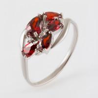 Серебряное кольцо с кварцем и фианитами РО1-1059Р-104кгр